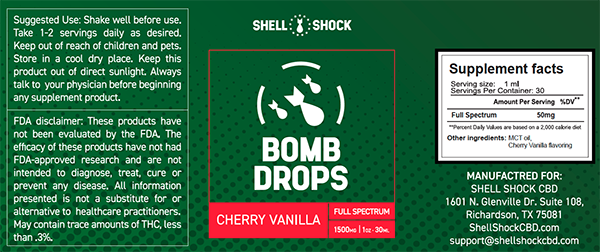 Full Spectrum Bomb Drops (Contains THC)